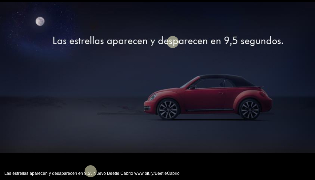 Anuncio en facebook del New Bettle